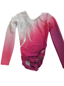 Sublimated Long Sleeve – Pink/White with Applique & Stones