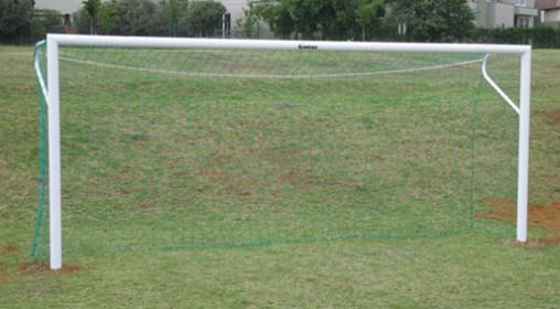 Soccer Goals Steel In-ground Senior