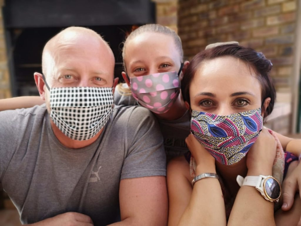3-Ply Cotton Face Masks Family