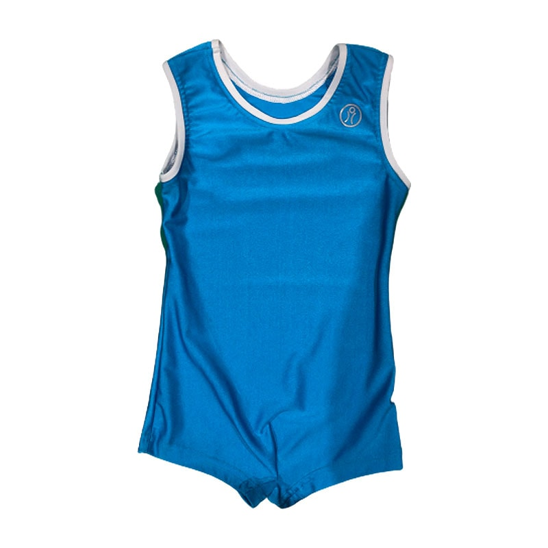 leotard-size6-boys-blue-lycra