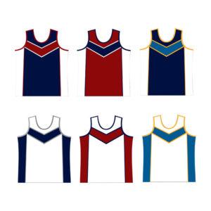 Panelled Athletics Running Vests - Junior