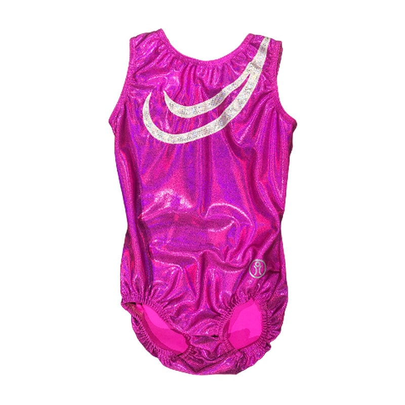 Short Sleeve Leotard Size 8 – Pink Fuchsia with applique