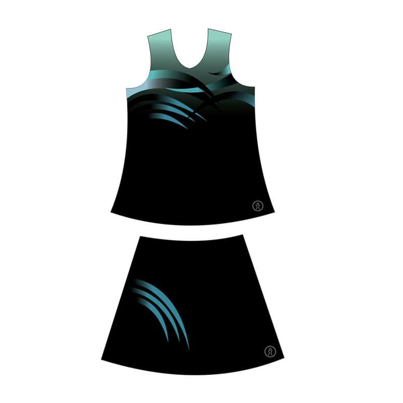 Netball Sublimated Plain Junior Kits