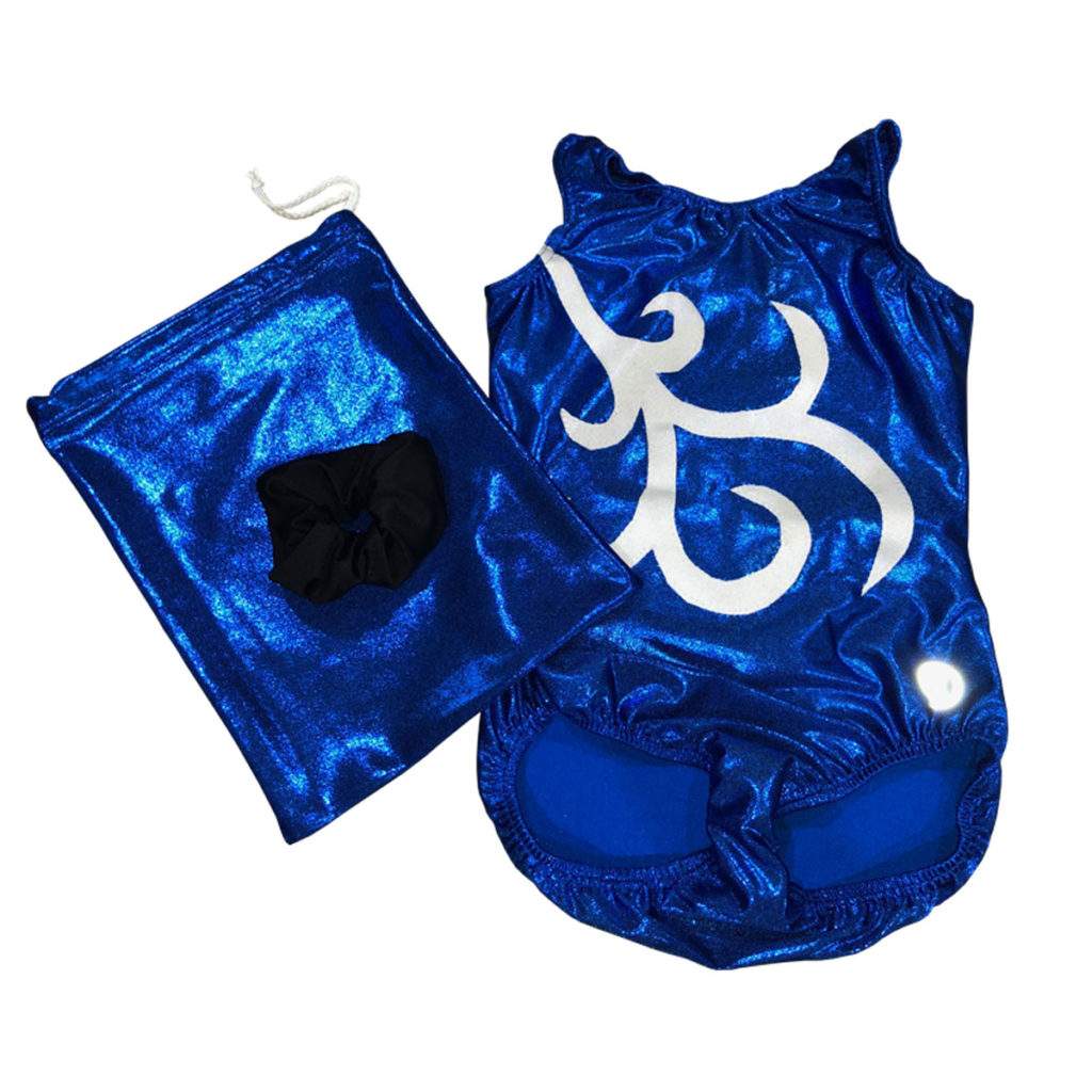 Mystique Leotard with Applique Combo – Pacific Blue / Royal
