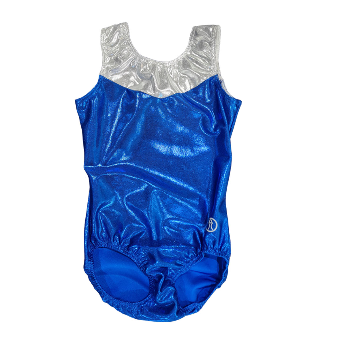 Short Sleeve Leotard Size 12 – Pacific Royal & White Silver