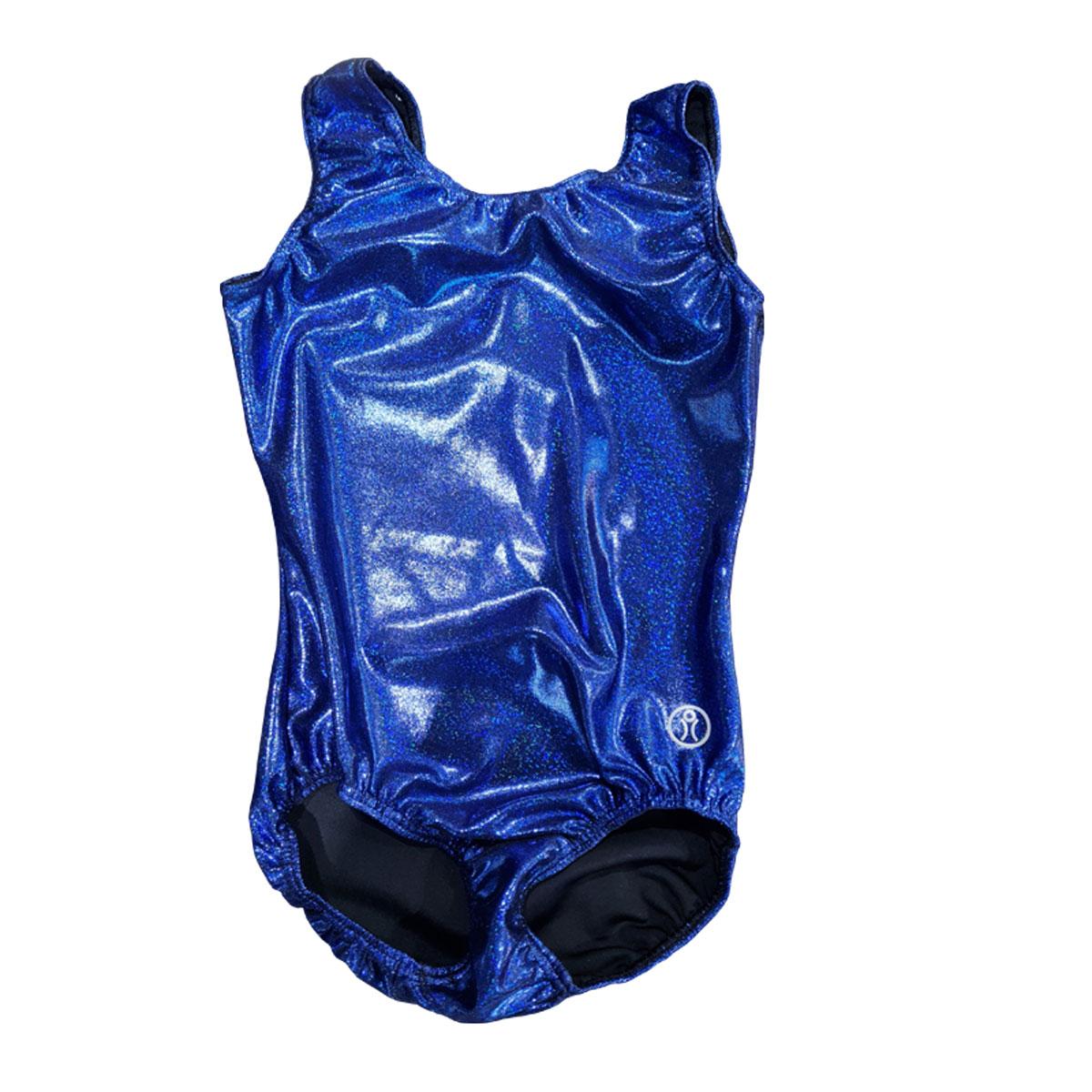 Short Sleeve Leotard Size 13 – Blue Sparkle Glitz