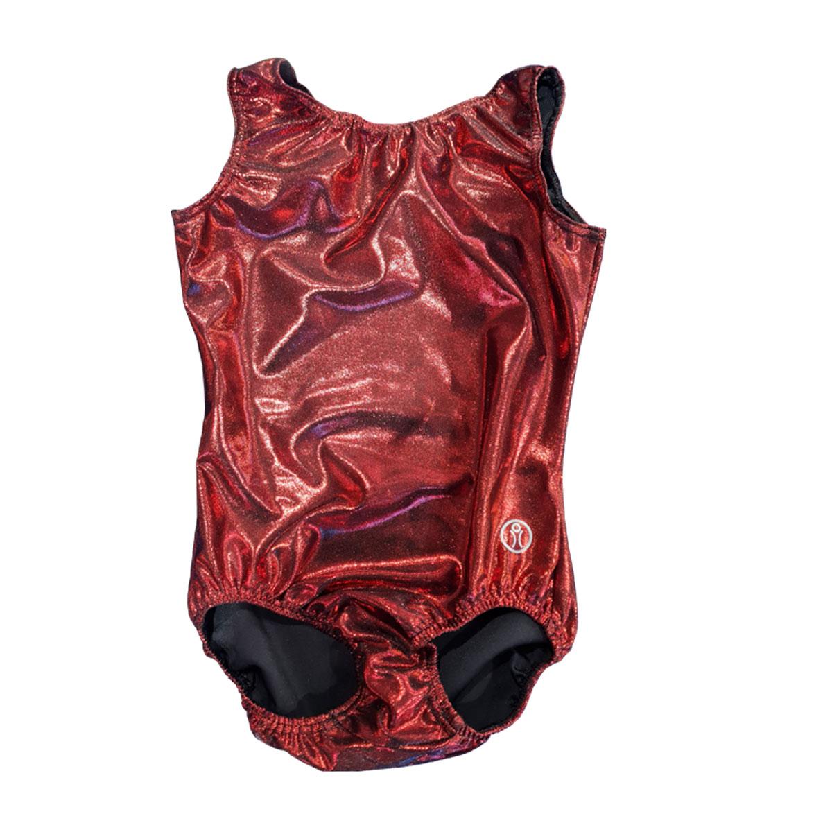 Short Sleeve Leotard Size 13 – Red/Back